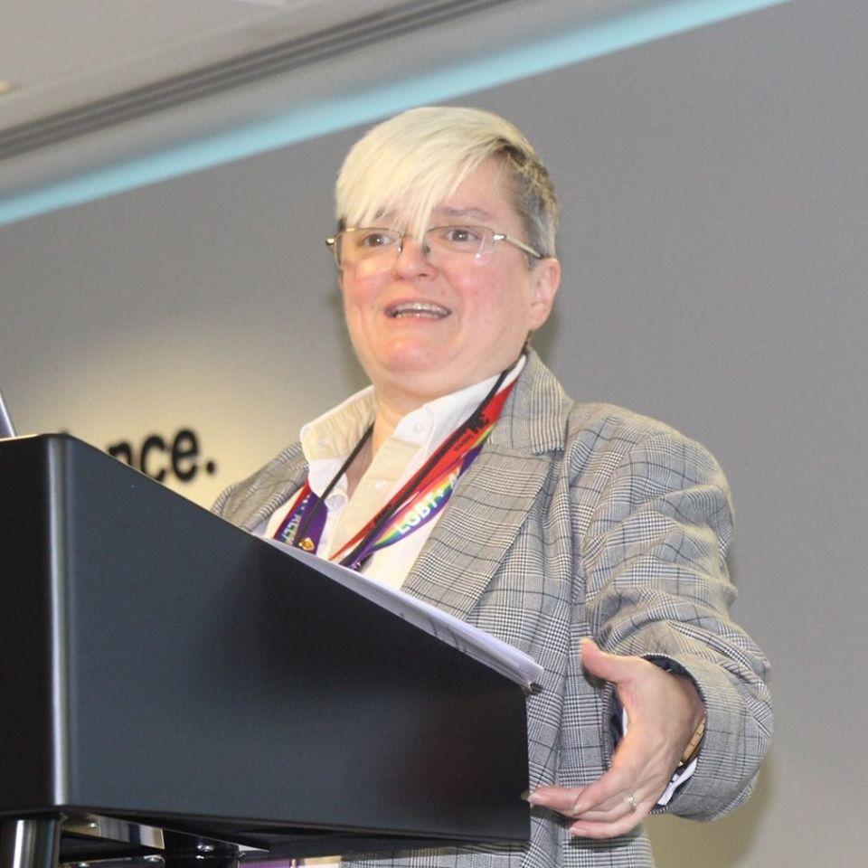 female public speaker