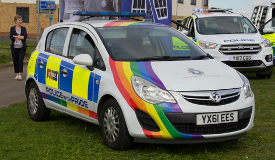 Rainbow Police car